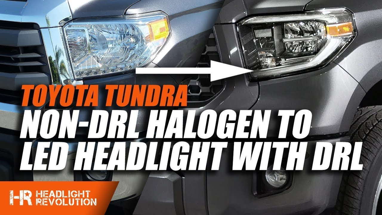 2005 tundra lights wiring diagram adding led drl to your non drl toyota tundra headlight youtube  led drl to your non drl toyota tundra