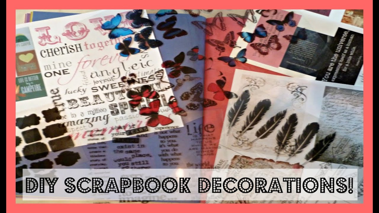 Diy Scrapbook Planner Journal Stickers And Decorations Youtube
