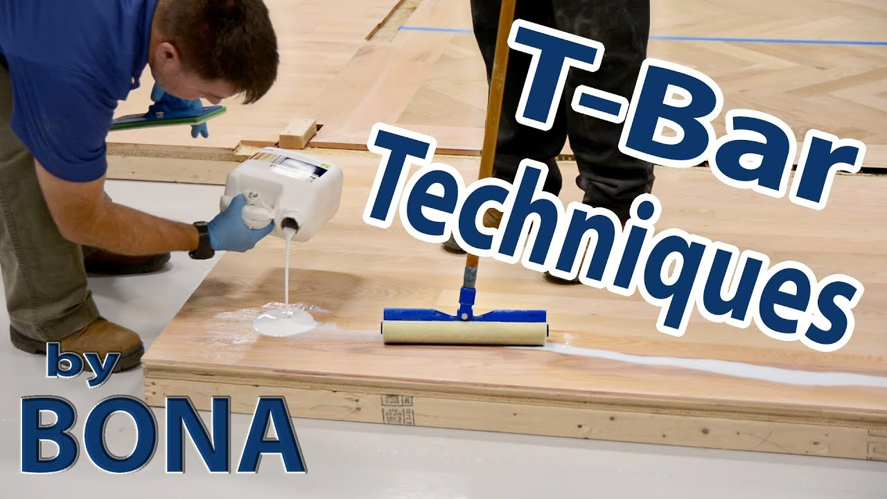 T Bar Techniques With Bona NordicSeal At City Floor Supply | Hardwood Finish  Application