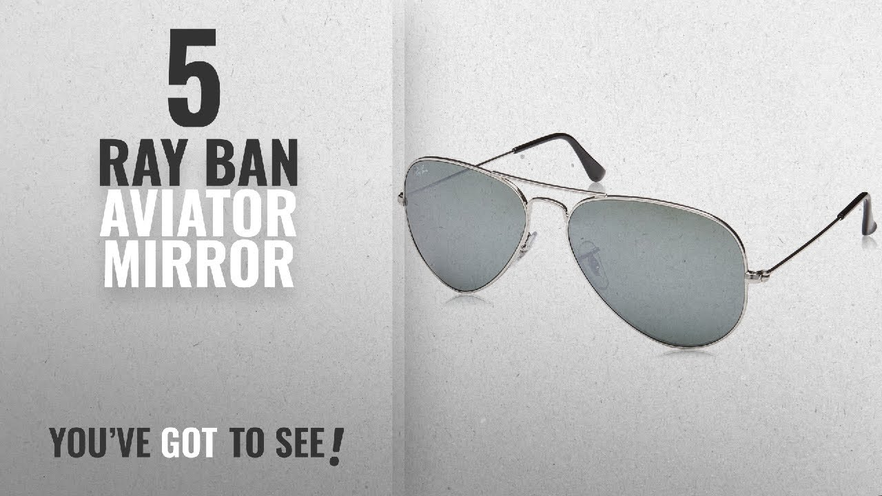 46d7e8e7df Top 10 Ray Ban Aviator Mirror   Winter 2018    Ray-Ban 3025 Aviator Large  Metal Mirrored