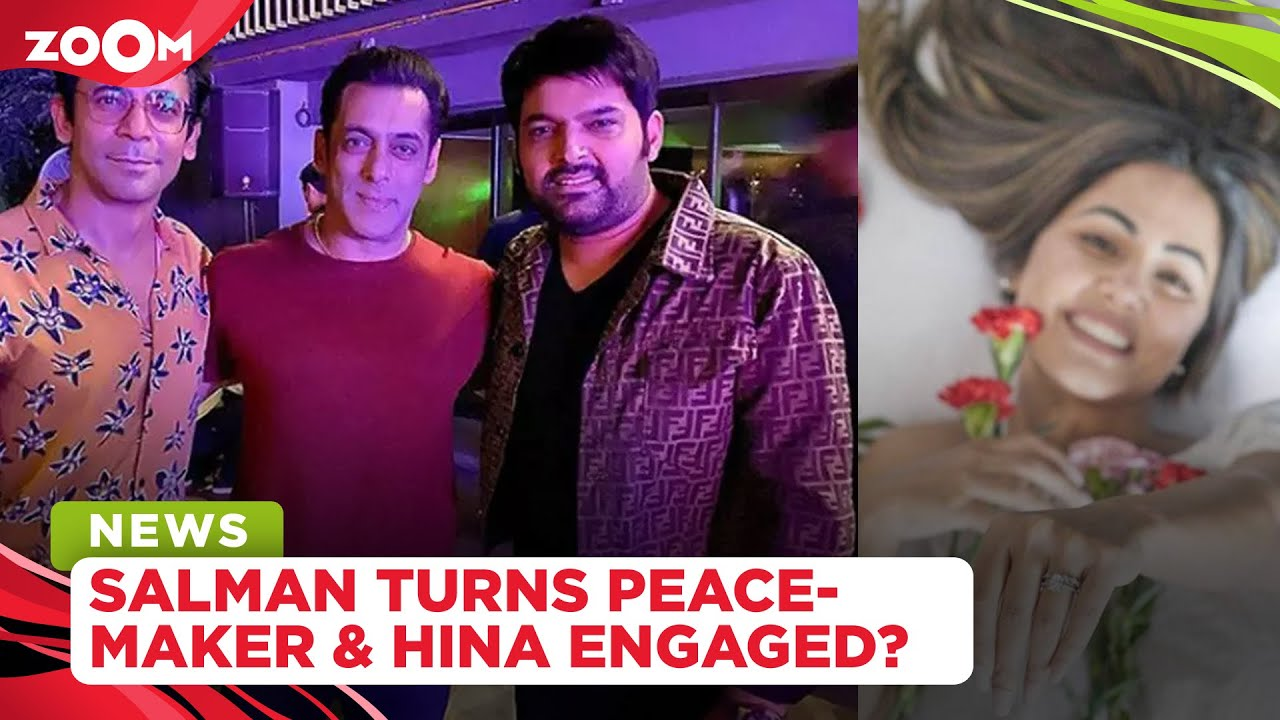 Salman Khan turns peacemaker for Kapil Sharma & Sunil Grover | Is Hina Khan engaged? | TV Gossips