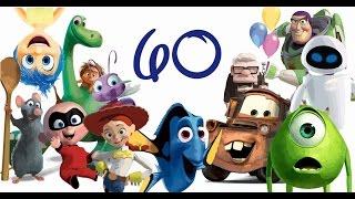 Sketching 60 Pixar Characters