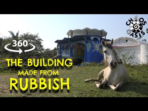 360º The building made from rubbish, Belize ⎸ 360 Honeymoon
