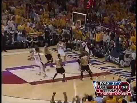 Lebron slams vs Wizards 2008 season