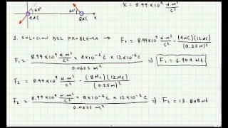 Ejercicio Aplicacion Ley de Coulomb - Electromagnetismo - Video 020