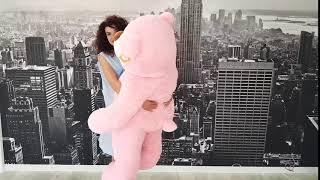 М'яка іграшка Ведмідь Бо величезний рожевий
