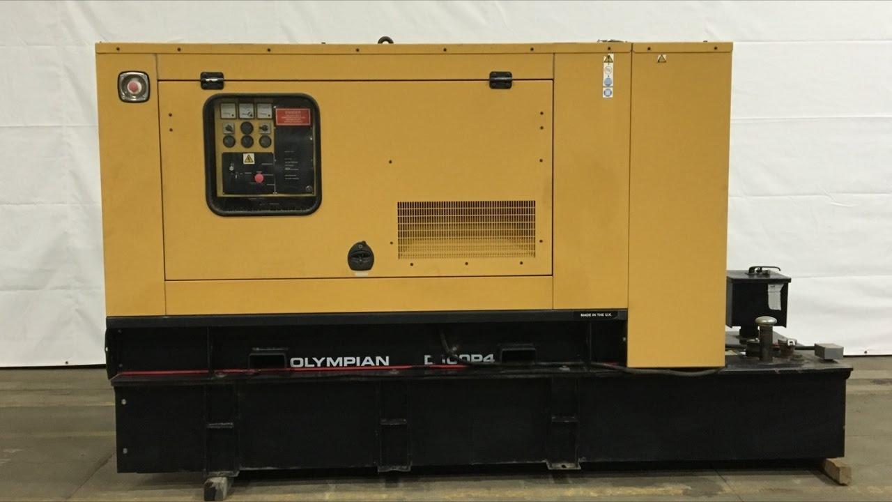 Caterpillar Olympian D100p4 100 Kw Diesel Generator 173 Hrs Yr Genset Wiring Diagram 2004 Csdg 2061