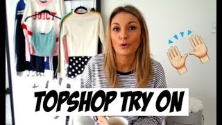 TOPSHOP HAUL | TRY ON | NEW JUICY COUTURE, TOMMY HILFIGER | LAUREN CROWE