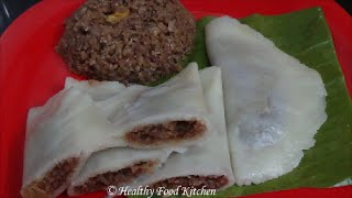 Ela Ada Recipe-elai Adai Recipe With Poha,jaggery & Coconut By Healthy Food Kitchen