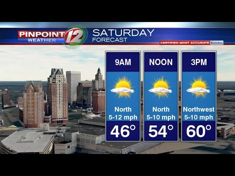WEATHER NOW: Sunny Saturday, Chance Showers Late Sunday