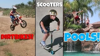 AWESOME DIRTBIKES, SCOOTERS & POOLS