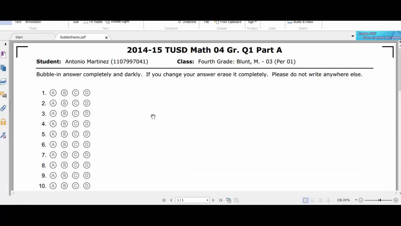 printing bubble answer sheets and grading sheets youtube