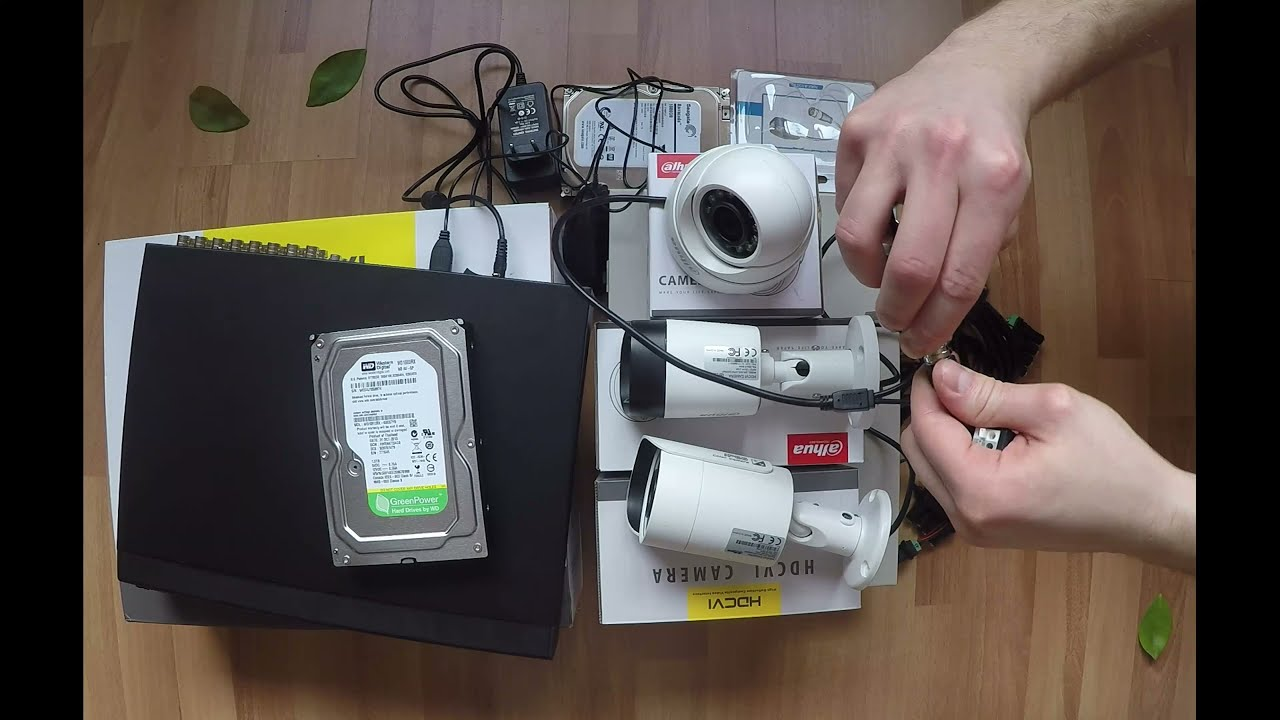 Dahua HDCVI CCTV Surveillance Setup DIY Parts needed