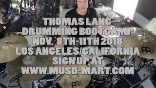 Thomas Lang Drumming Bootcamp in Los Angeles, Nov 9-11 2018