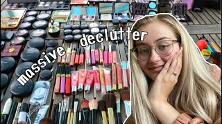 Makeup collection declutter 2020
