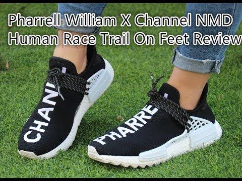 c0b15184a1d55 Pharrell x Chanel x Adidas Human Race NMD on Feet Review - YouTube