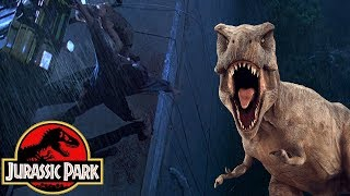 How The T-Rex Got Over The Giant Drop Off In Jurassic Park