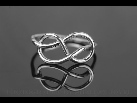 Sterling silver infinity ring tutorial well demonstrated
