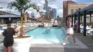 Pool party at Profundo NYC . Behrouz!