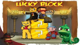 El Camaleón Asesino | Carrera De Lucky Block | Con Sara, Luh y Exo