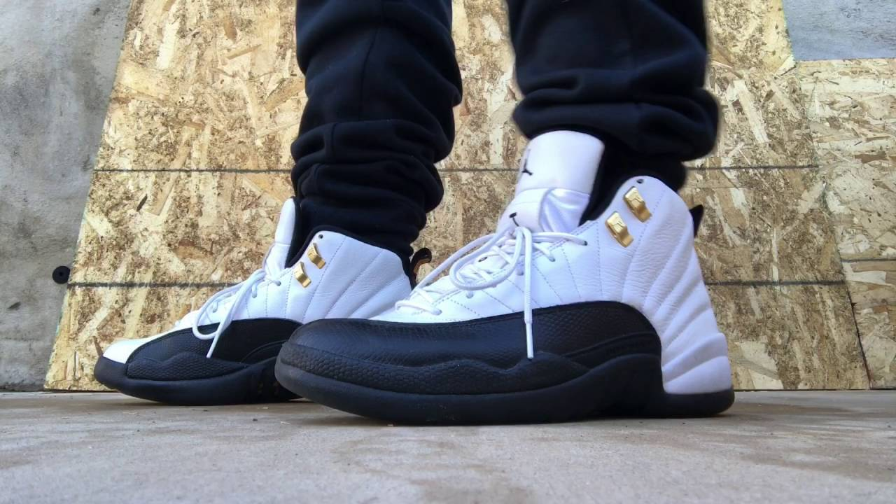 buy popular 22a7e 0d757 Air Jordan 12 Taxi on feet!!