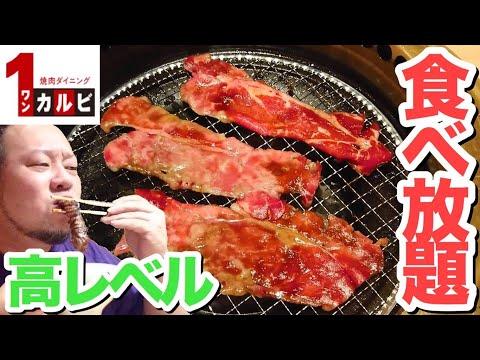 【大食い】幸せ感じるハイレベルな焼肉食べ放題!【ワンカルビ】