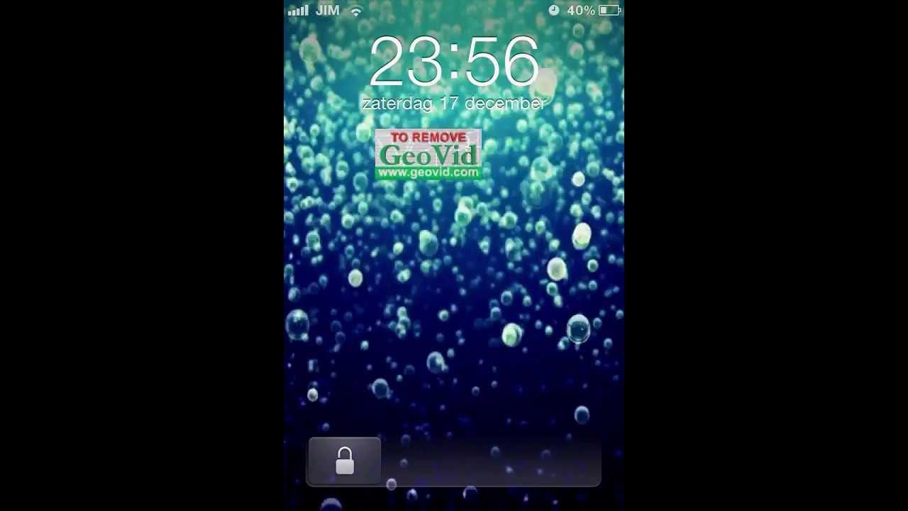 Live wallpaper on iPhone 4 - lockscreen + home screen - YouTube