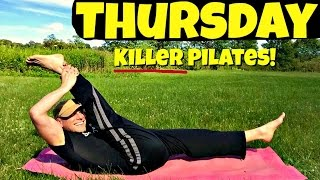 Thursday - KILLER Power Pilates Strength Workout - 7 Day Pilates Challenge #powerpilates