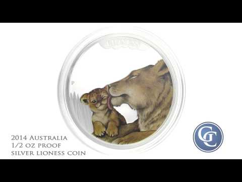 2014 Australia Mothers Love: Lioness 1/2 oz Proof Silver Coin