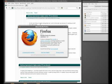 Firefox memory usage while entering comment on Slashdot
