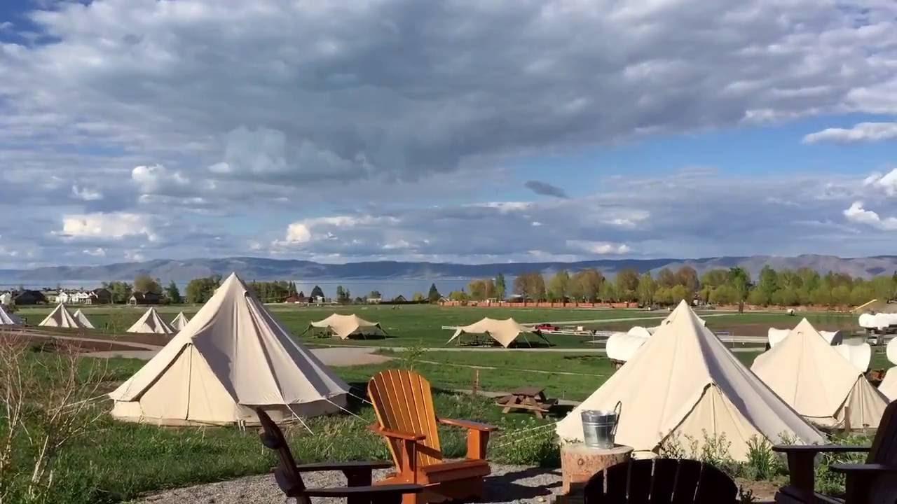 Glamping In Bear Lake Utah Conestoga Ranch Review And Tour