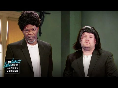 Samuel L. Jackson Acts Out His Film Career w/ James Corden