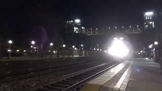 BNSF E/B & W/B Stack trains going through Fullerton station 2019-08-31\