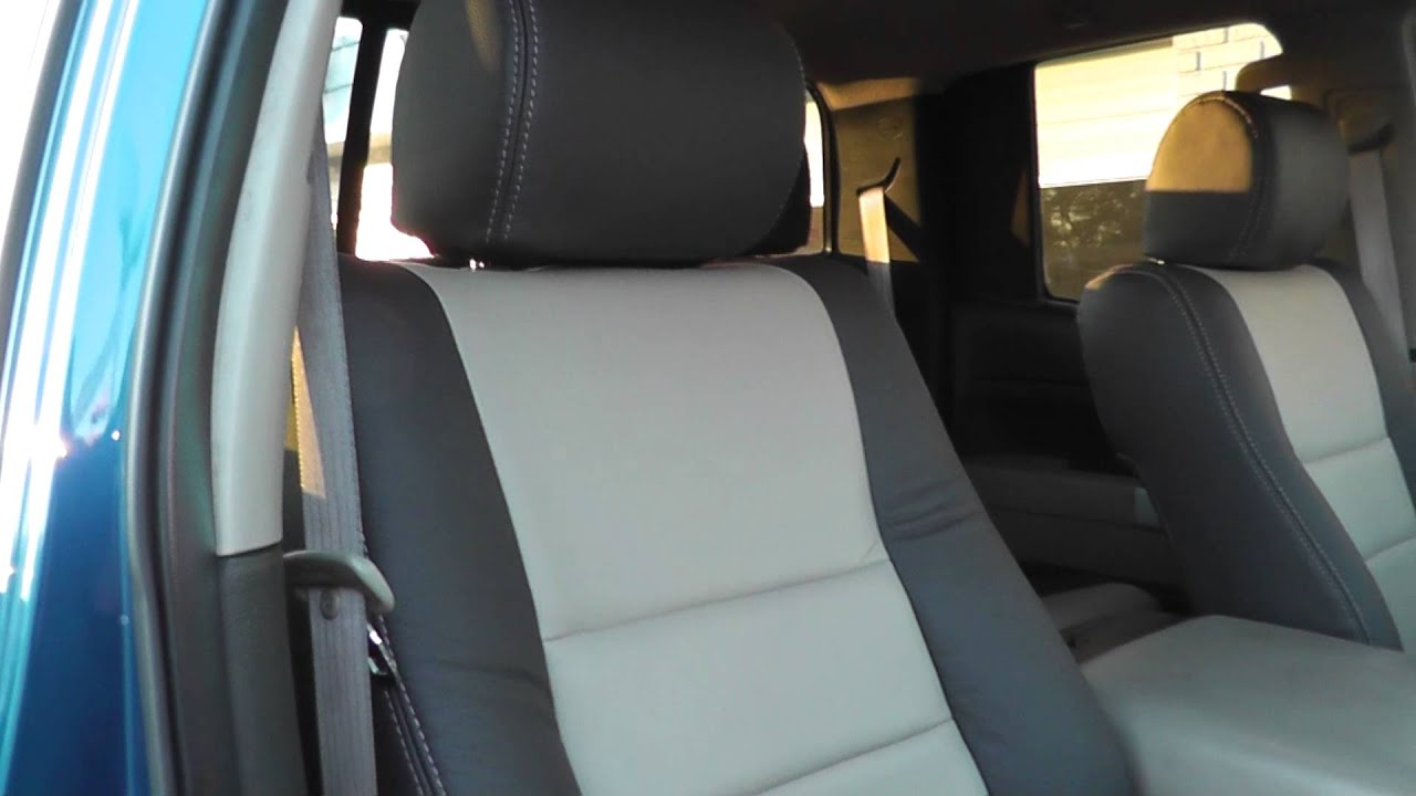 Toyota Tundra Custom Katzkin Leather 2 Tone Leather Interior Youtube