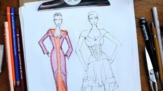 How to Color a Sketch | Fashion Sketching