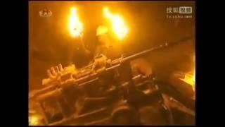 朝鲜工人因停电举火把修建发电站