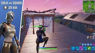 'GAMEPLAY' SOLO VS SQUAD 35 KILL ROYALE KNIGHT SKIN (Gameplay Fortnite) NO COMMENTARY