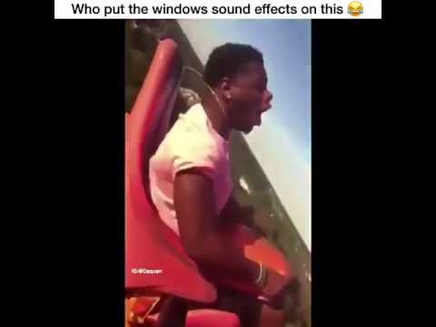 Man passes out on Roller Coaster (FUNNY WINDOWS EDIT)