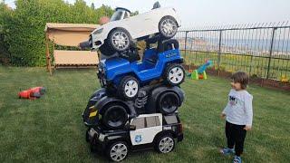 Fatih Selim'in akülü arabalarını üst üste koyduk,araba kulesi yaptık.