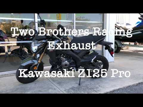 Kawasaki Z125 Pro With Two Brothers Exhaust System Amazing Sound