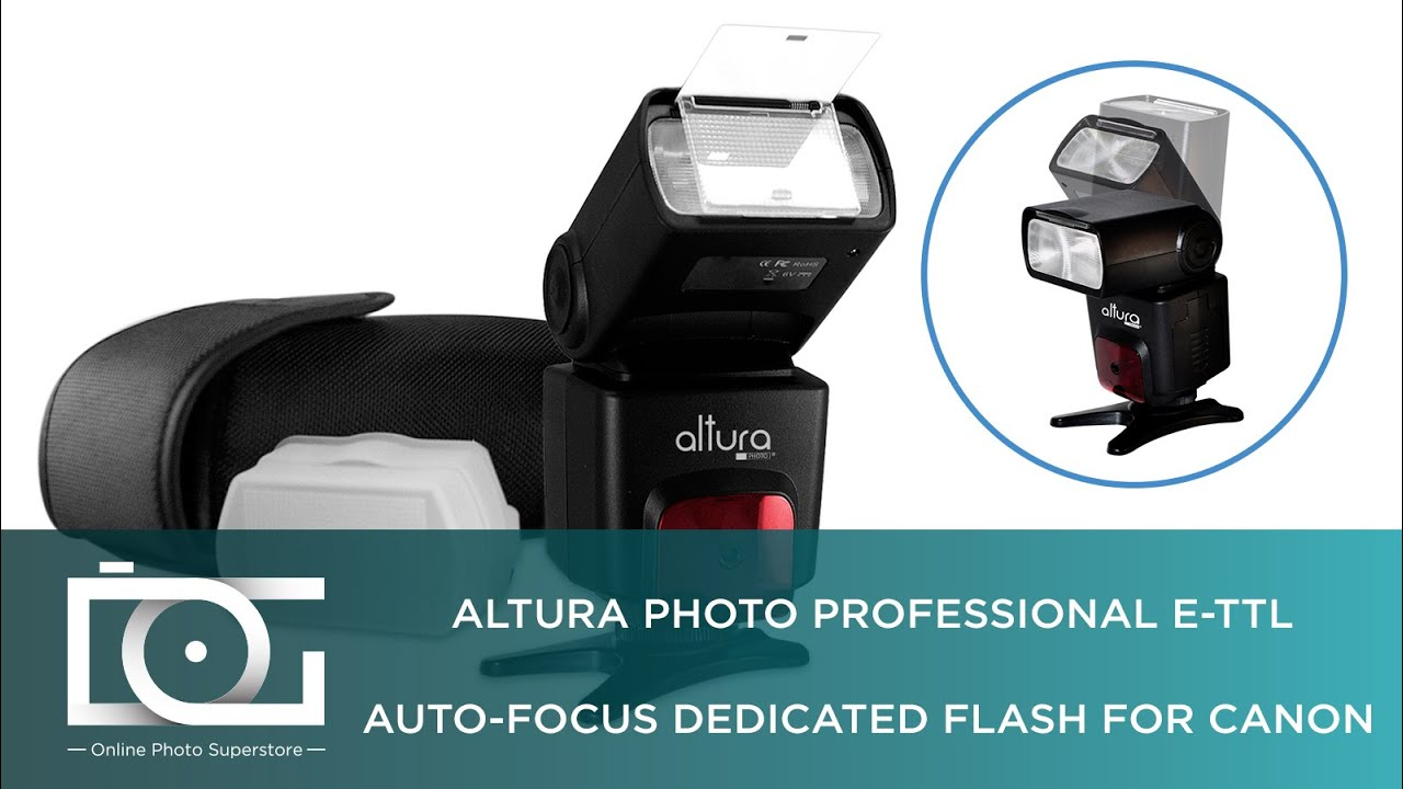Speedlite Flash For Canon E Ttl Auto Focus By Altura Photo Youtube