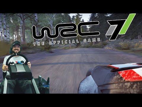 WRC 7 FIA World Rally Championship - очередная ДИЧЬ, которая отучит от ручного тормоза!