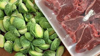 🔴 Lamb Loin Chops with Crispy Brussels Sprouts & Beet Salad