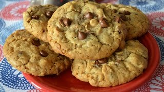 Sweet Geeks- Peanut Butter Chocolate Chip Oatmeal Cookies