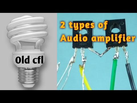 Audio amplifier from CFL circuit | Two types of circuit