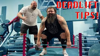 Brian Shaw Shows Obie His Tips For A Huge Deadlift!