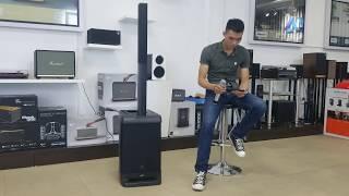 Hát karaoke chuyên nghiệp với loa kéo JBL EON One dòng Pro kết hợp mic không dây chuyên dụng
