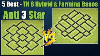 Clash of Clans - Top 5 Best Town hall 8 Defense Th8 Farming Base & Hybrid Base Anti 3 Star