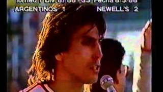 1987-88 - Campeonato Argentino - Fecha 35 - Argentinos Jrs 1 - 2 Newell