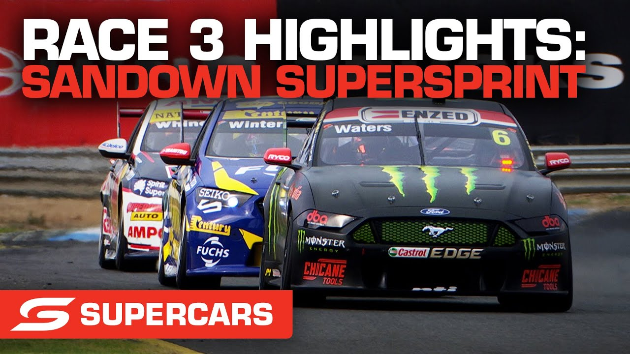 Race 3 Highlights - Penrite Oil Sandown SuperSprint | Supercars 2021